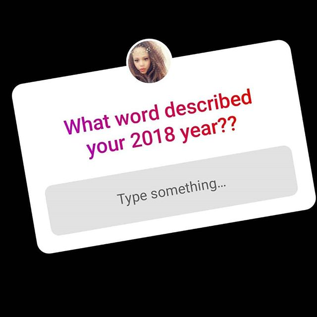 Trying... 2018 tried allllllll my patience but it's coo I know 2019 will bring joy to make up for every tear dropped this year.  What word described your 2018 year??? Answer in my instastoryyyyyyy!!