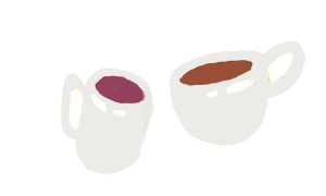 Image of two white coffee cups for an article about five Richmond, VA coffee shop business owners that are women.
