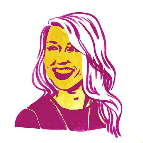 Image of designer Sarah Culclasure via an illustration by Emily Herr (Richmond, VA illustrator).