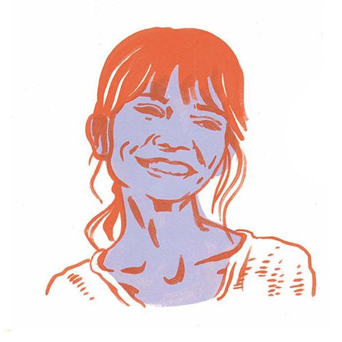 Image of photographer Sarah Der via an illustration by Emily Herr (Richmond, VA illustrator).