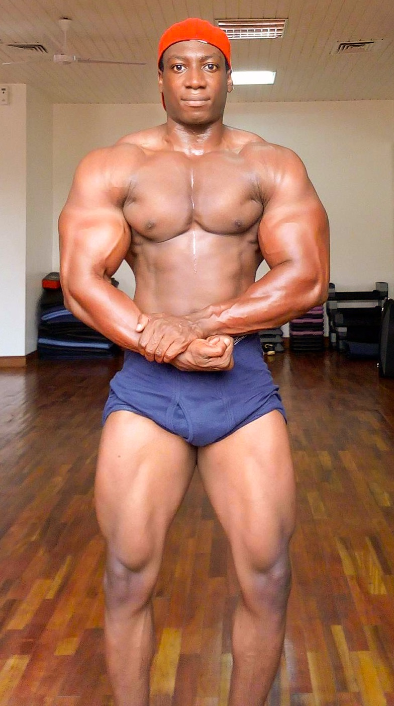 Caleb - Level 2 trainer Height:6'0 Weight:94 kg Qualifications:4 years of bodybuilding. Welcomes all levels for relaxed but productive workouts. Fun but serious trainer. Speaks French fluently. Favorite workouts:Arms - Chest Awards:Man Ghana (4th - 2015); Mr Physique (3rd - 2015)