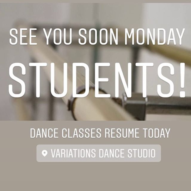 Our Monday classes will be held today per our studio calendar.  See you soon dancers!