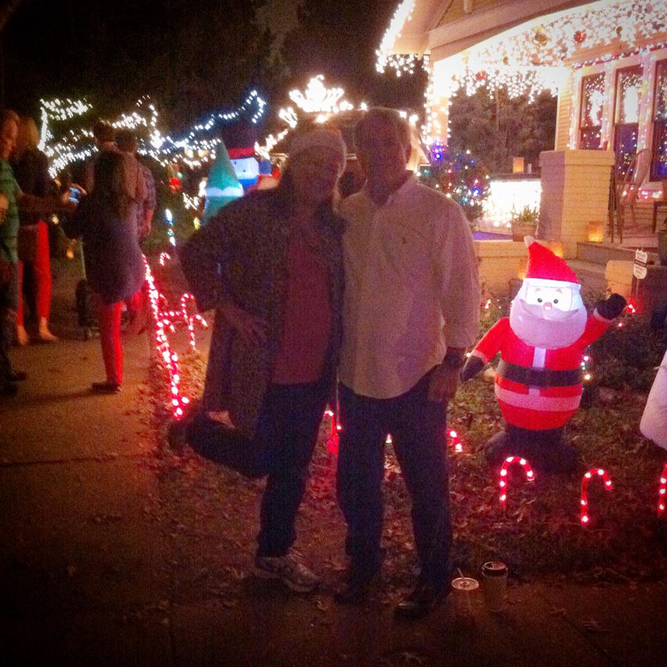 Mom and Dad at Lights in the Heights.