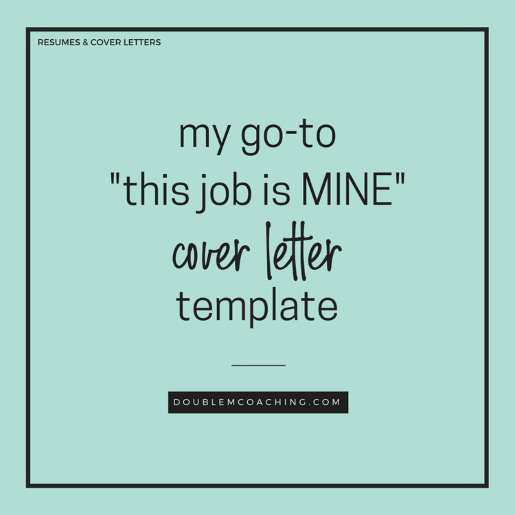 My Go To This Job Is Mine Cover Letter Template Double M