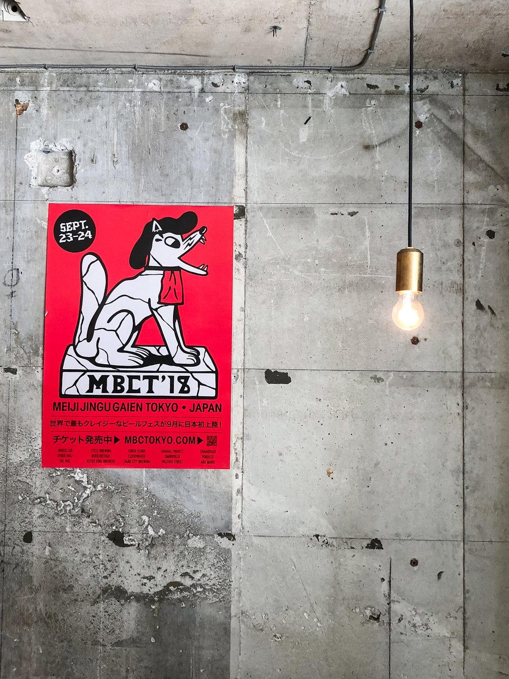 Poster of Mikkeller Beer Celebration Tokyo '18 in Mikkeller Bar, Tokyo  Photo © Øhm Sweet Øhm