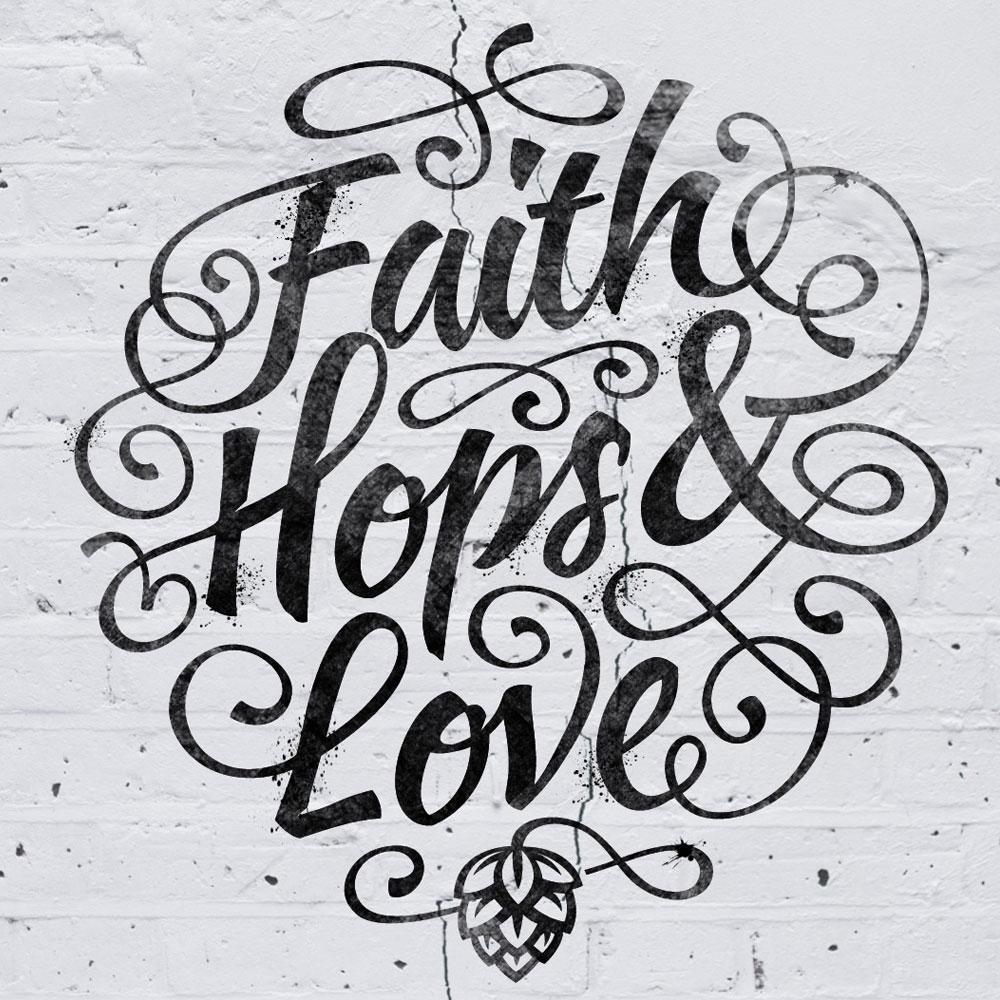 Faith Hops & Love - DesignBro