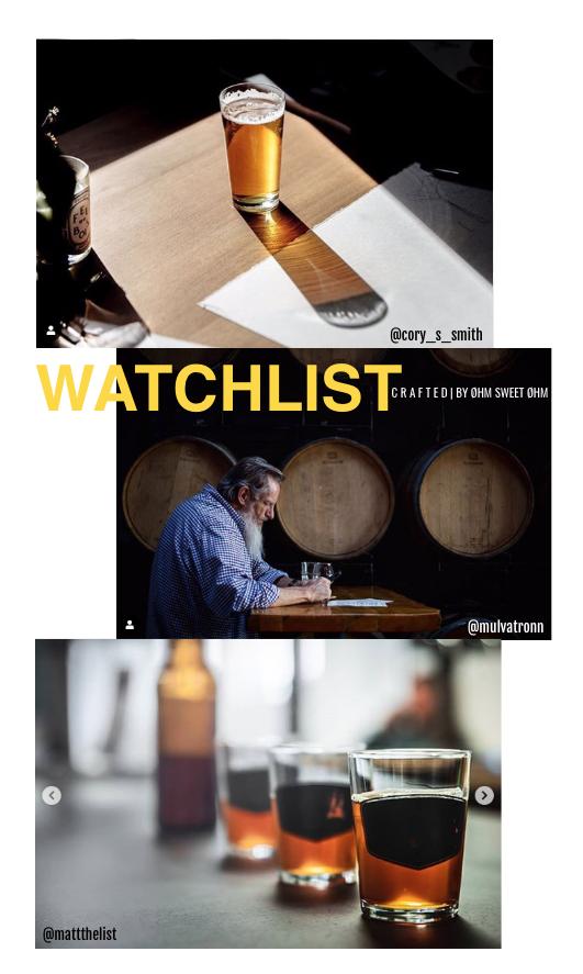 Watchlist: las mejores cuentas sobre cerveza artesana en Instagram (Vol.1) - Photos © @cory_s_smith, @mulvatronn & @mattthelist