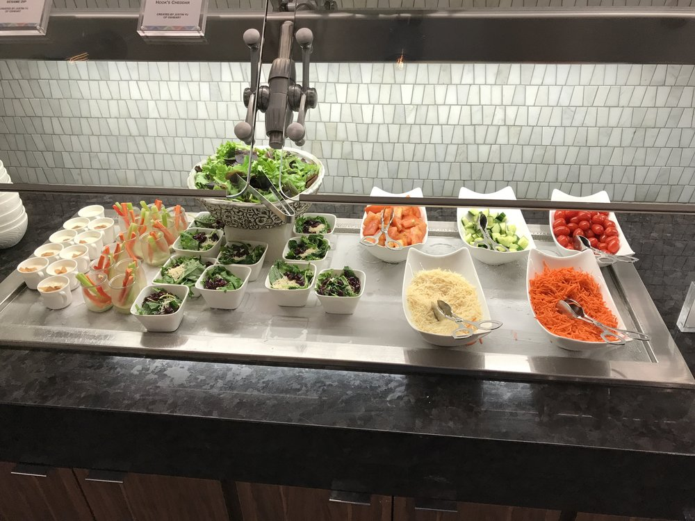 Salad Bar at the Centurion Lounge IAH
