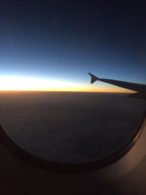Beautiful sunrise just west of Ireland