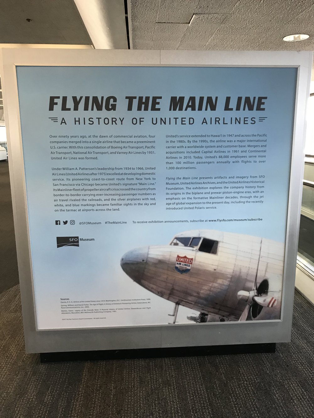 Part of United SFO exhibit