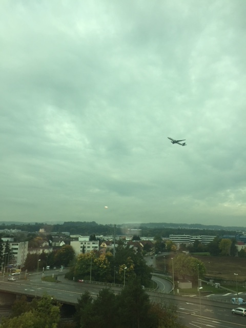 Even though we didn't have a view of the airport, we did see planes climbing out of ZRH!