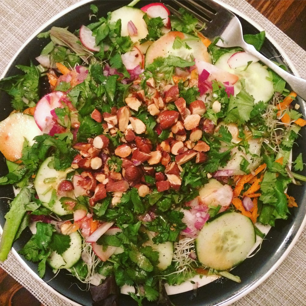 Salad with Raspberry Ginger Vinaigrette