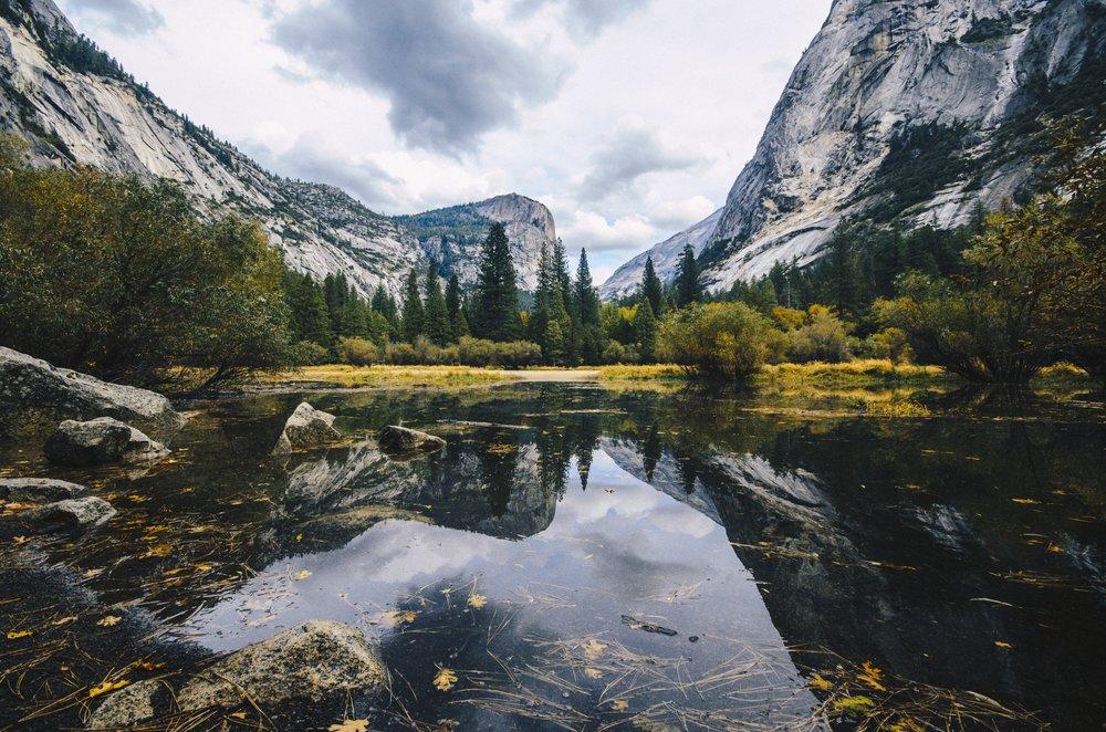 The beautiful Yosemite valley.
