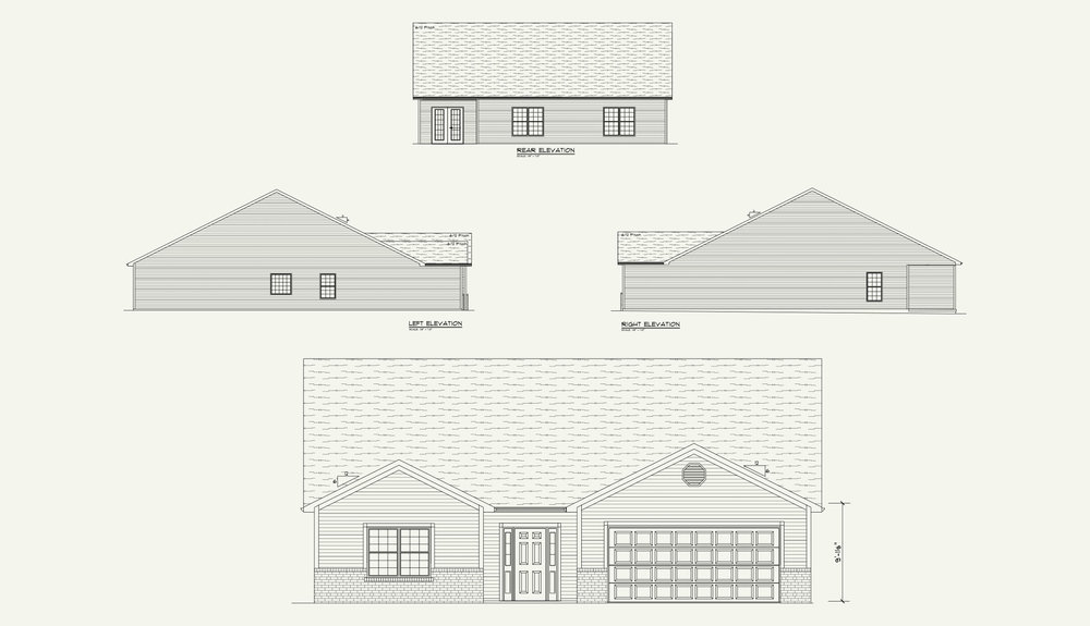 3 Bedroom, - Titleist Floorplan, August Hills, Lot 2