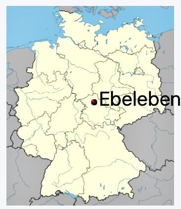 Bildet er hentet fra Wikipedia og det fortelles at landsbyen har ca 2906 innbyggere og ligger 245. m.o.h. Nå er jeg nesten halvveis gjennom Tyskland. 👏👏