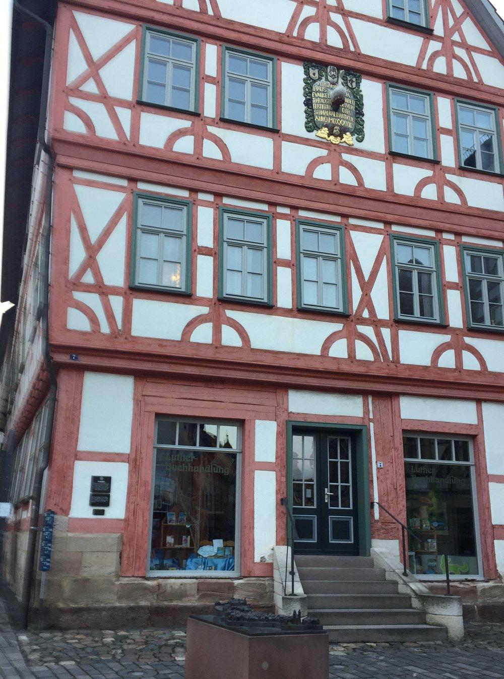 Etterhvert kom jeg meg til Schmalkalden. Her er huset hvor Martin Luther en gang bodde.