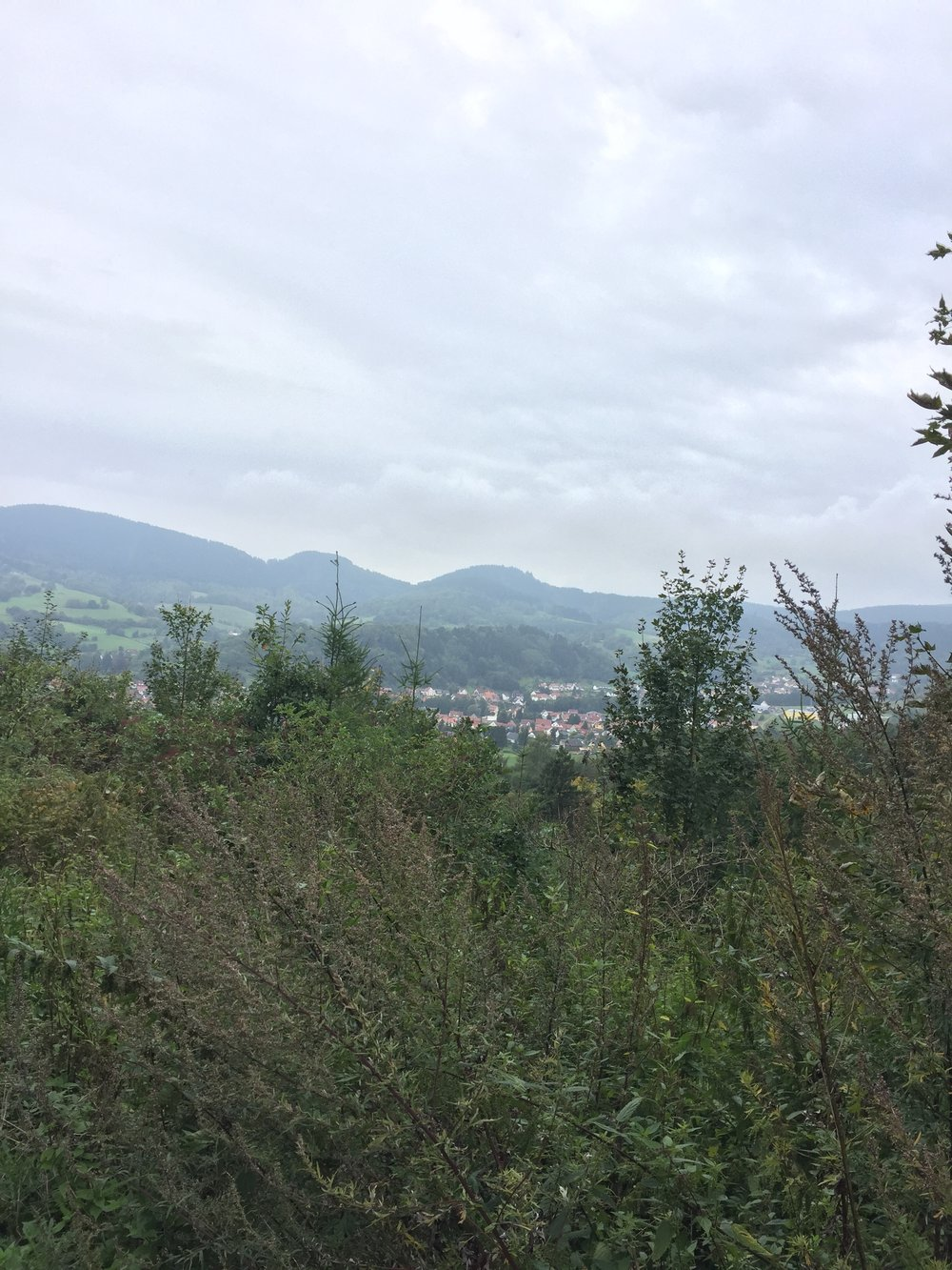 Her nærmer jeg meg Floh-Seligenthal ca 340 moh og nedstigning kjentes i føttene.
