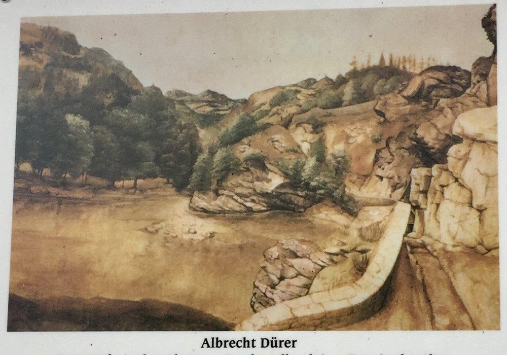 Albrecht Dürer malte et av sine bilder fra denne strekningen.