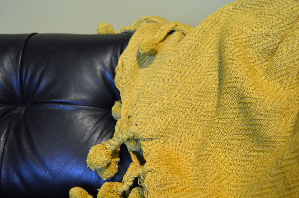 New cozy throws - A light summer color for those breezy summer nights, this throw is sure to keep you warm and cozy.