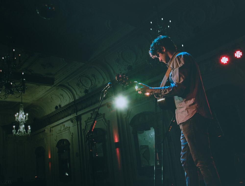 Performing at Bush Hall, London, 2017