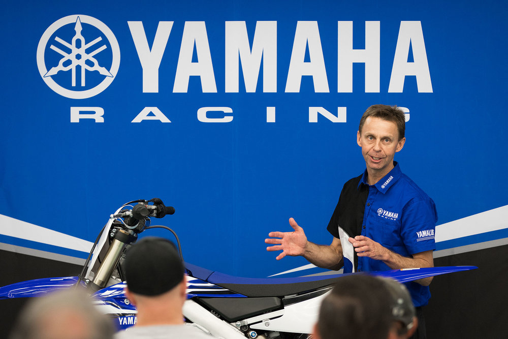 Steve Butler is head of R&D at Yamaha Motor Corporation. He has been involved in every four stroke motocross production machine that Yamaha has built, including Doug Henry's 1997 Las Vegas winning one-off 400 thumper.