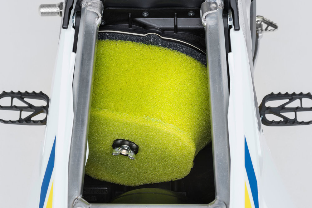The larger air box/cleaner also has a straighter shot via airboot for increased power output.