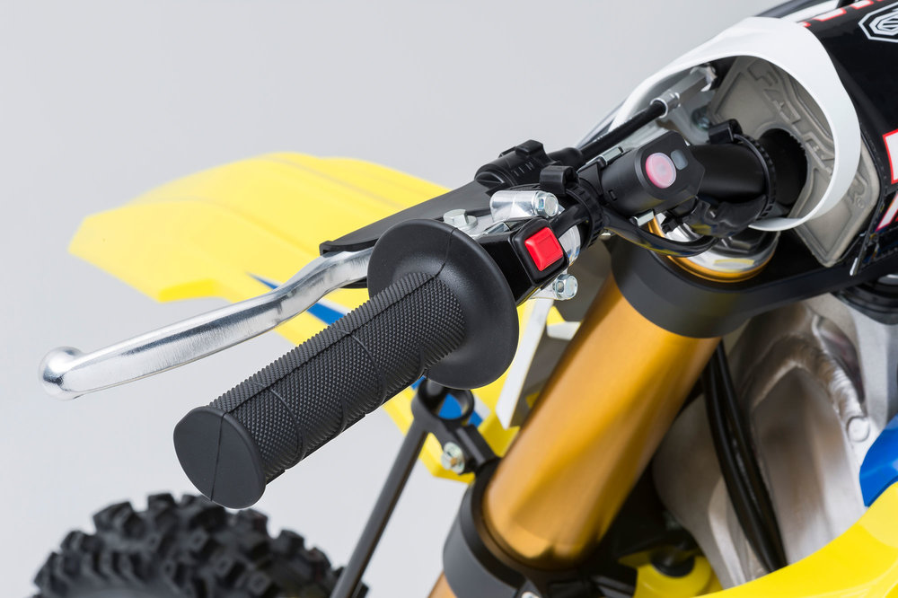 The updated Suzuki Holeshot Assist Control helps aid in slippery and hard pack conditions.