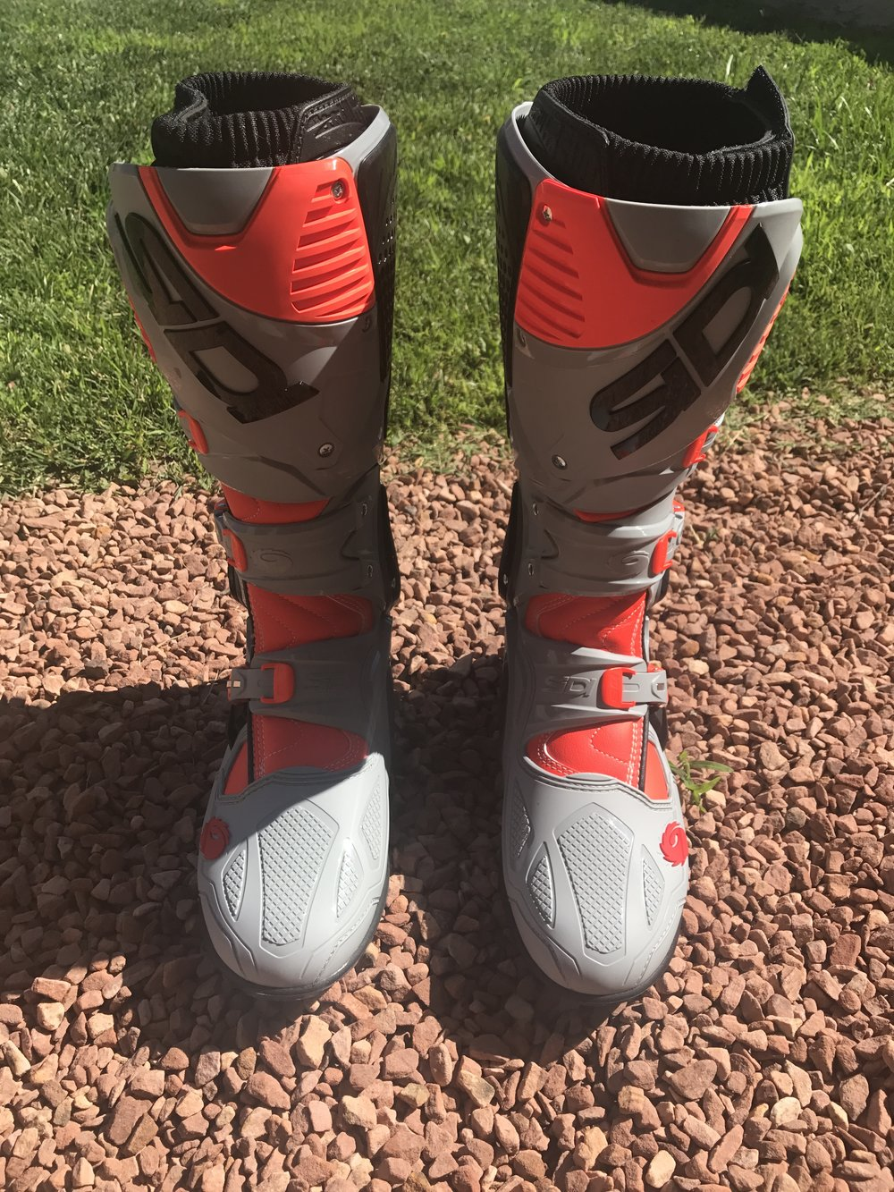 The Sidi Crossfire 3 SRS boots come in six different colorways.