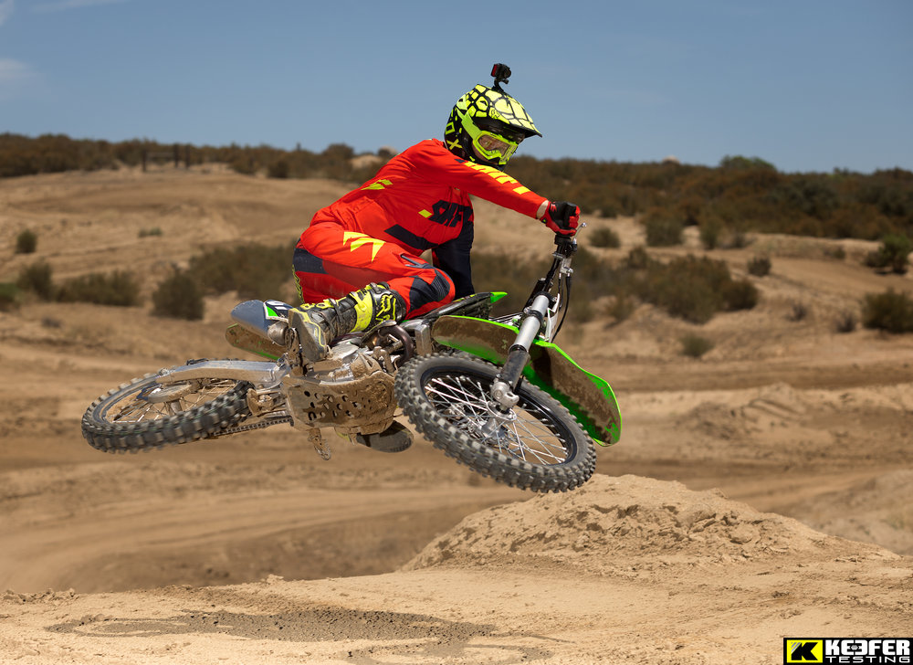 The 2018 KX250F felt flickable to Bowers.