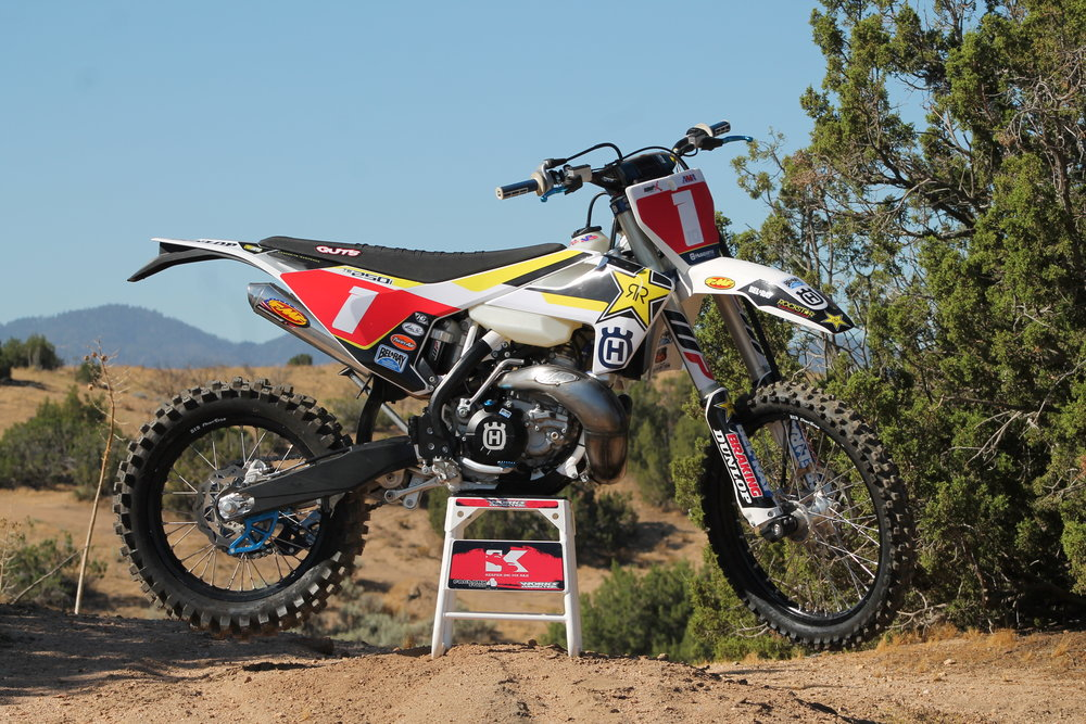 We didn't just get a stock 2018 Husqvarna TE250i, we got a fully decked out FMF/Husqvarna looking race machine.