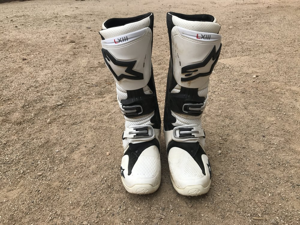 These Alpinestars Tech 10's have seen some serious track time.