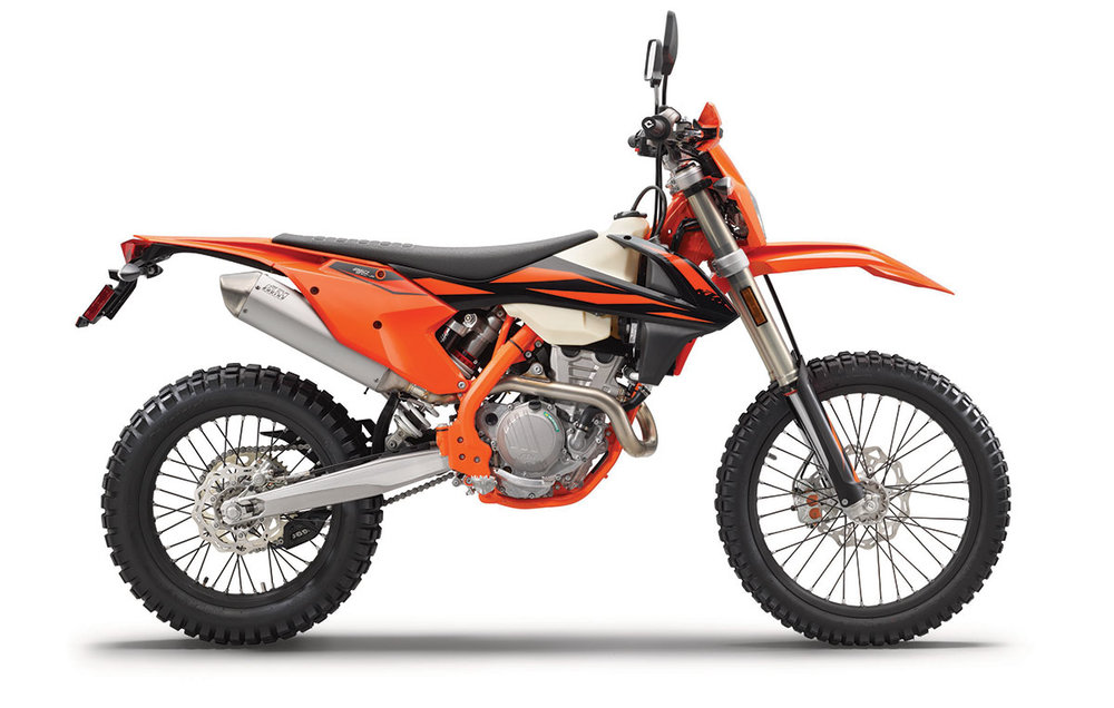 2019 KTM 250 EXC-F - The smallest model of the KTM 4-stroke range is a great choice for motivated amateurs and ambitious pros alike, with its super compact, powerful engine, minimal weight and well-centered masses providing a lively performance and fantastic handling. Sharing many components with the successful 350 EXC-F engine, this power plant offers class-leading performance with plenty of torque thanks to its advanced fuel injection system. The 250 is easy to ride, agile and highly controllable for complete rider confidence, with state of the art technology for great throttle response and controlled power delivery.