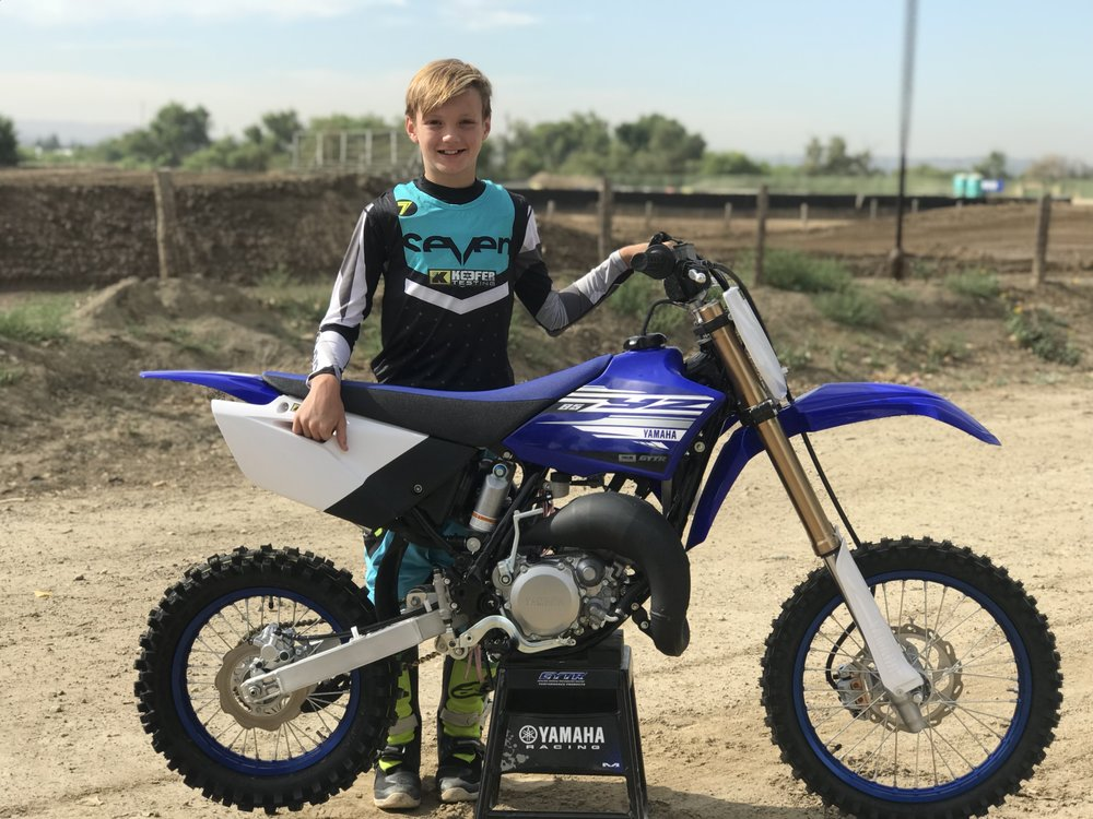 Aden Keefer and the 2019 Yamaha YZ85