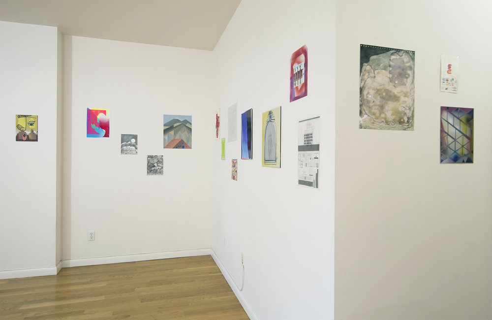 Room 1 installation with hallway