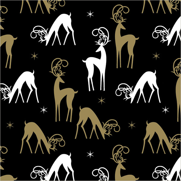 Finished Reindeer gift wrap design sold at Walmart. ©American Greetings.