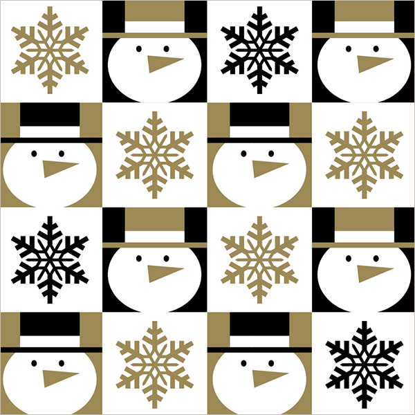 Finished Snowman gift wrap design sold at Walmart. ©American Greetings.