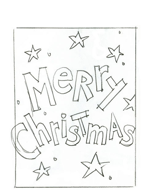 Concept sketches for an American Greetings   Merry Christmas gift bag design.