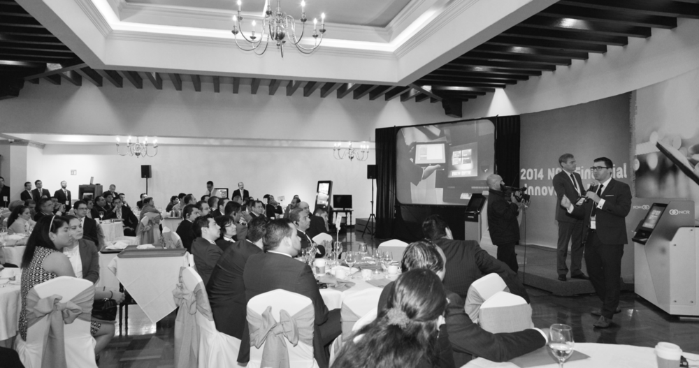 Branch Transformation - Sensing a major shift in the industry, Addison reoriented his focus in late 2013 on the retail banking industry, and became a leader in the concept of branch transformation. Shown here speaking to an audience in Mexico City, Addison helped bring a human-focused and multi-industry approach to the introduction of fractional employee models and reconfigured workflows, as the financial sector underwent myriad shifts in consumer experience design.