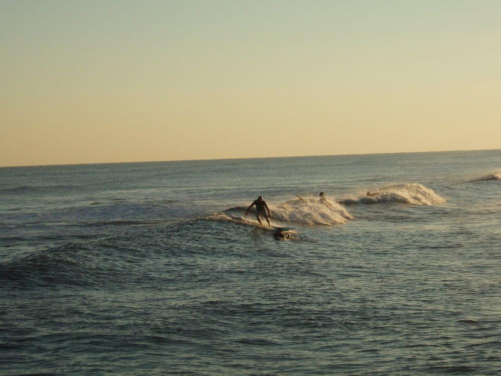 Surfing in Galveston