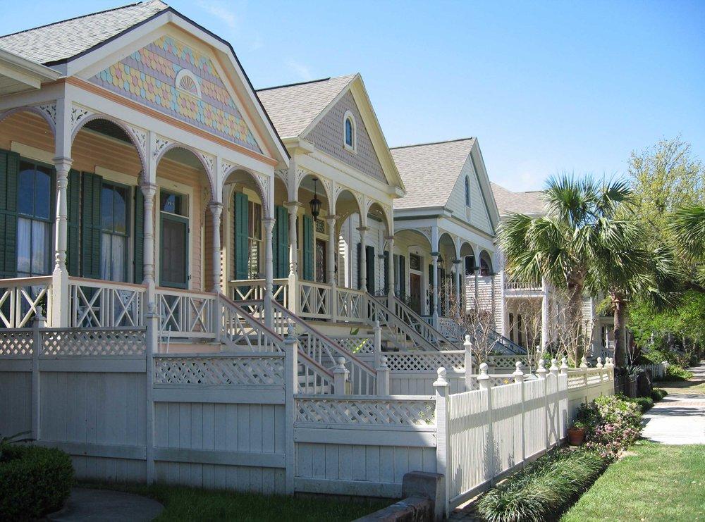 Galveston Historic East End - Victorian homes