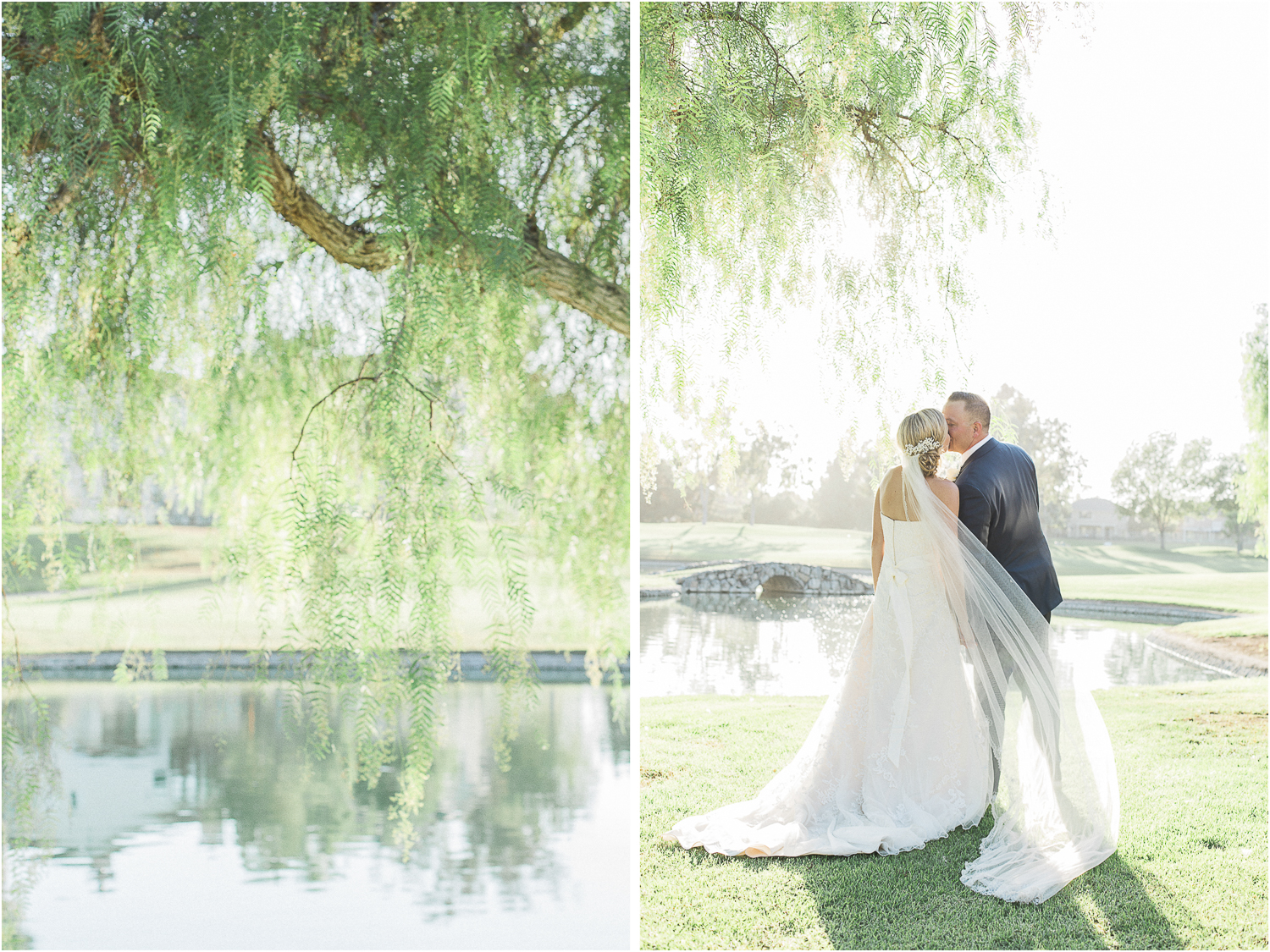 Alta Vista Country Club's spacious green golf course was such a beautiful backdrop to showcase the couples portraits.