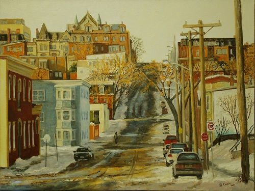 Sunset on Wentworth Street.  Sold through Handworks Gallery