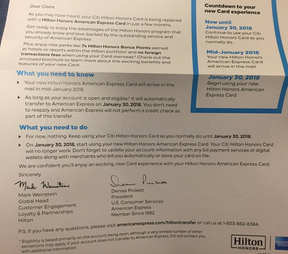 Citi Hilton credit card
