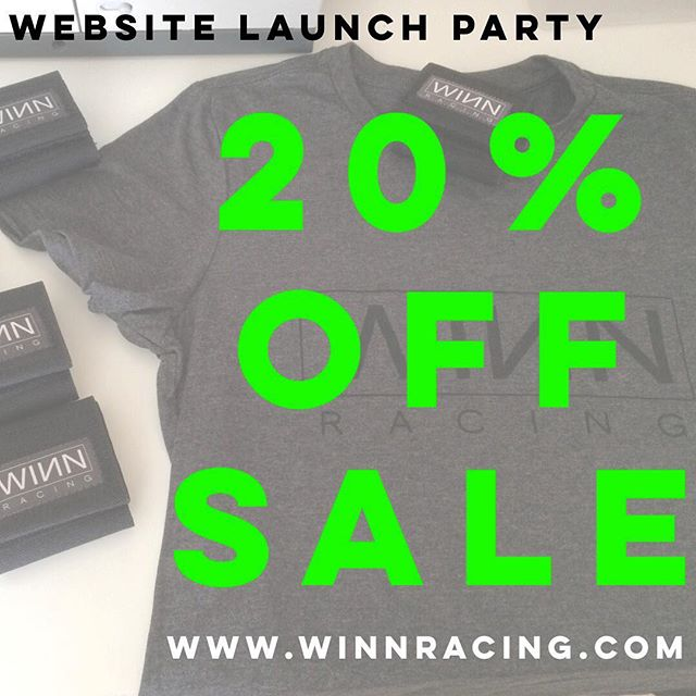 The WINN Racing website and store are live!! Go to winnracing.com or click on the link in our bio and, for a limited time, enjoy 20% off everything in our store. #WINNStrip #saynotoelectricaltape #sparetubeready
