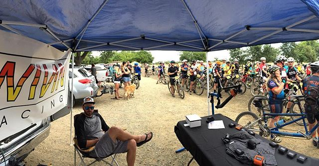 WINN Racing enjoying the beautiful weather out here at #prairiecityraceseries Race number 9 of the season. Good luck and be safe out there racers! #sparetubeready #saynotoelectricaltape
