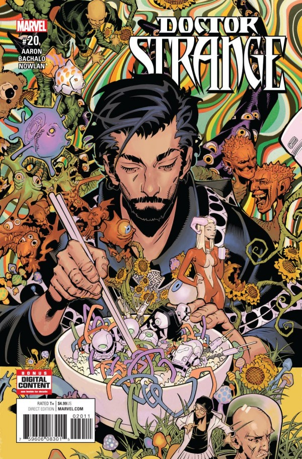 Doctor Strange #20 - By Jason Aaron / Artist: Chris BachaloWhat an issue! Jason Aaron and Chris Bachalo have been delivering with every issue this series, and this one is the perfect send off for them! This issue is told mostly from Zelma's perspective, and I couldn't be happier! It opens at a magic auction that happens to be selling a wand that made it through the Empirikul killing magic and Strange will get his hands (erm… paws? Snout? You get it.) on it. While escaping Morgan Le Fay's goon, Magma Man, Strange is struck by a poisonous arrow while Zelma struggles to keep her new fly motor cycle in the air. They go through the Bermuda Triangle and are shot into Weirdworld! Zelma has to learn to fend for herself while trying to keep Strange alive. See Zelma finally come into her own within the magic realm, instead of being a scared victim of it like when we met her, is refreshing and exciting! She ends up almost sacrificing her own life to save Strange, but the Doctor can't let people die if there is still an option available… even if neither he nor Wong want to. Speaking of Wong, it was sad to see him leave the Sanctum. Who is Doctor Strange without Wong? I mean, after Misery, the man deserves a vacation… a very long vacation. You can't really blame him. It just will feel like the Sanctum is missing a big piece of it until he comes back. Strange has turned Zelma from normal librarian to being his new apprentice. Zelma can now see the world through her third eye, and if Chris Bachalo is drawing that world, of course you wouldn't want to go back!It is very sad to see Jason Aaron and Chris Bachalo go from this title, but I am excited to see what their next title(s) will be, and I'm excited for the future of Doctor Strange!