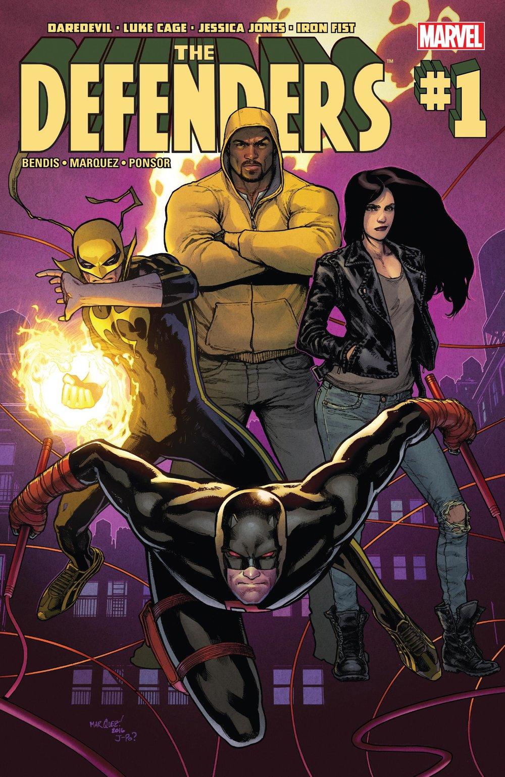 Defenders #1 (Marvel) - By Brian Michael Bendis / Artist: David Marquez
