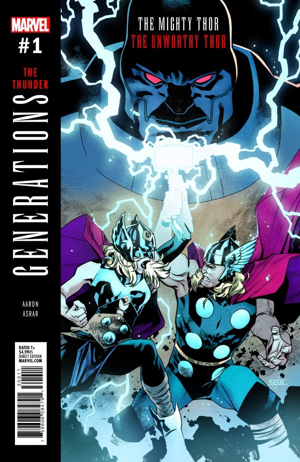 Paul's Pick - GENERATIONS: THE UNWORTHY THOR & THE MIGHTY THOR #1 (By: Jason Aaron / Artist: Mahmud Asrar)
