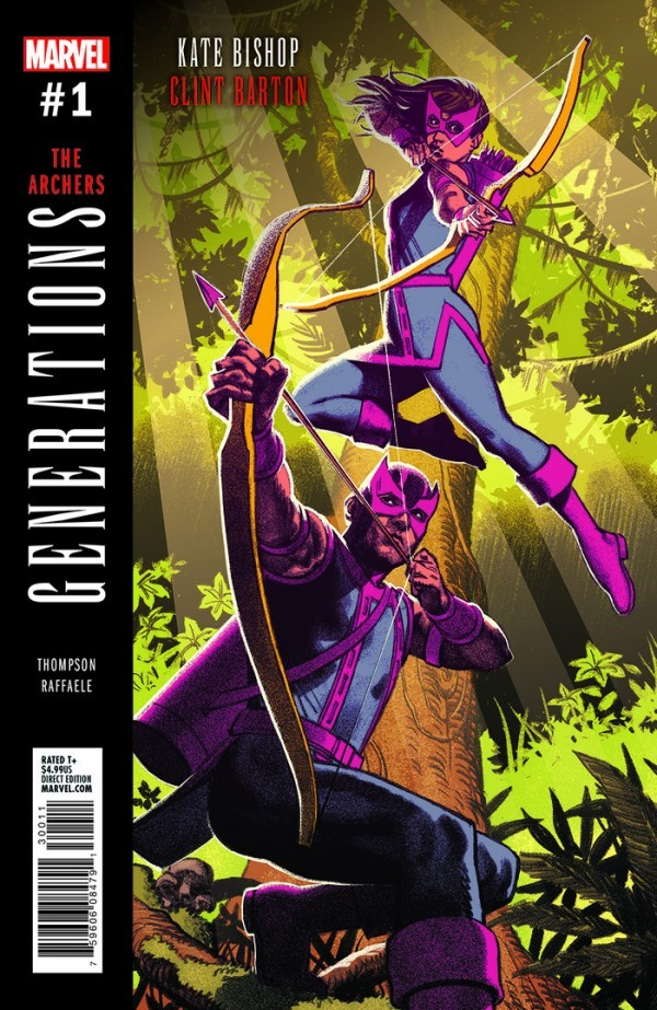 A.T.'s Pick - Generations: Hawkeye (The Archers) (By: Kelly Thompson / Artist: Stefano Raffaele)