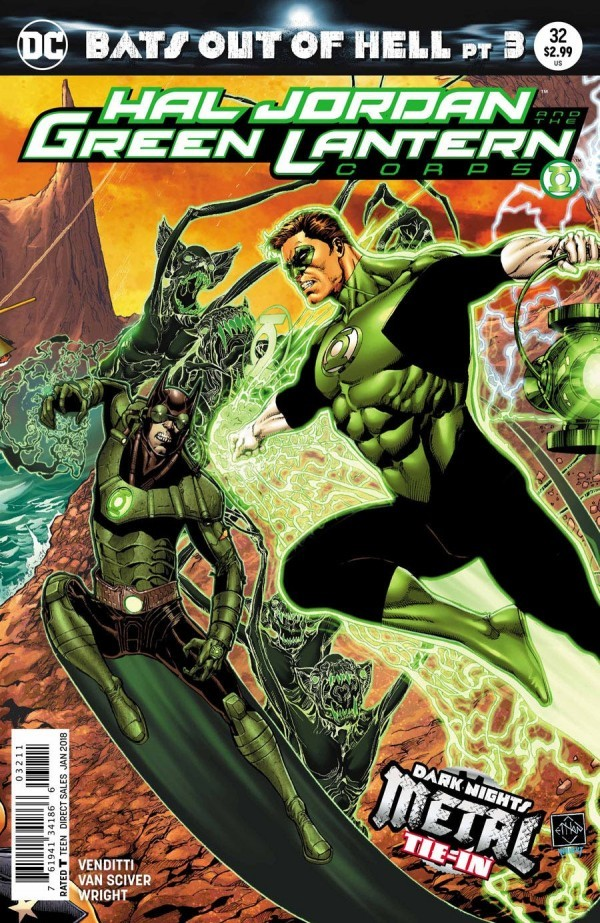 A.T.'s Pick - Hal Jordan and the Green Lantern Corp #32 (By: Robert Venditti / Artist: Liam Sharp & Ethan Van Sciver)